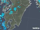 2018年02月04日の宮崎県の雨雲の動き
