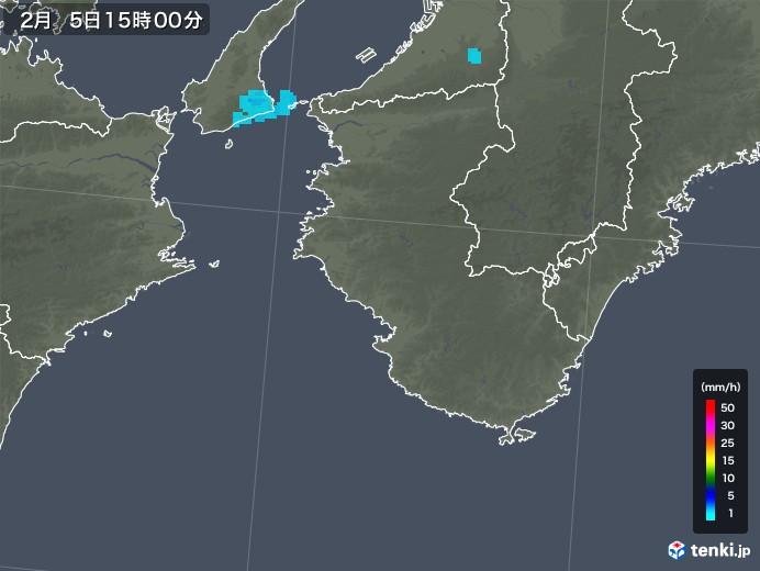 和歌山県の雨雲レーダー(2018年02月05日)