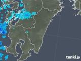 2018年02月06日の宮崎県の雨雲の動き