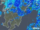 2018年02月10日の宮崎県の雨雲の動き