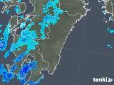 2018年02月12日の宮崎県の雨雲の動き