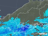 2018年02月15日の広島県の雨雲の動き
