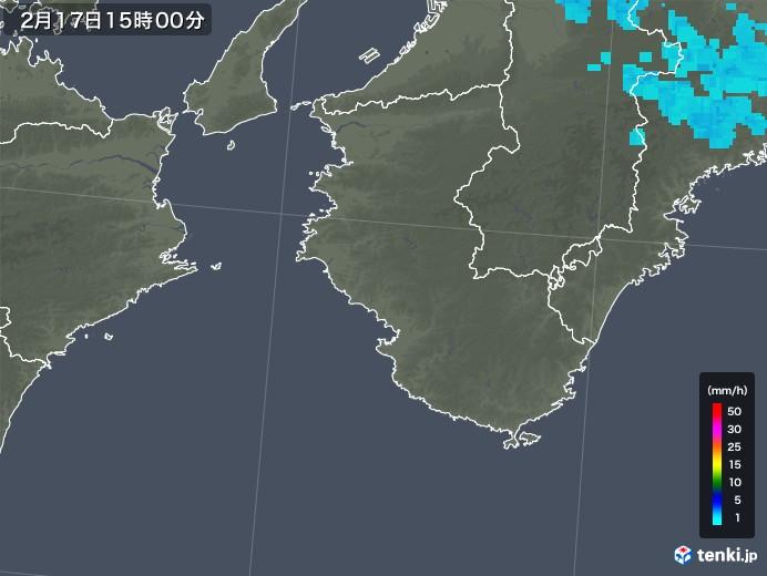 和歌山県の雨雲レーダー(2018年02月17日)