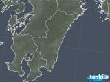 2018年02月22日の宮崎県の雨雲の動き