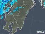 2018年02月28日の宮崎県の雨雲の動き