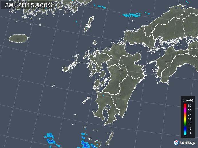 九州地方の雨雲レーダー(2018年03月02日)