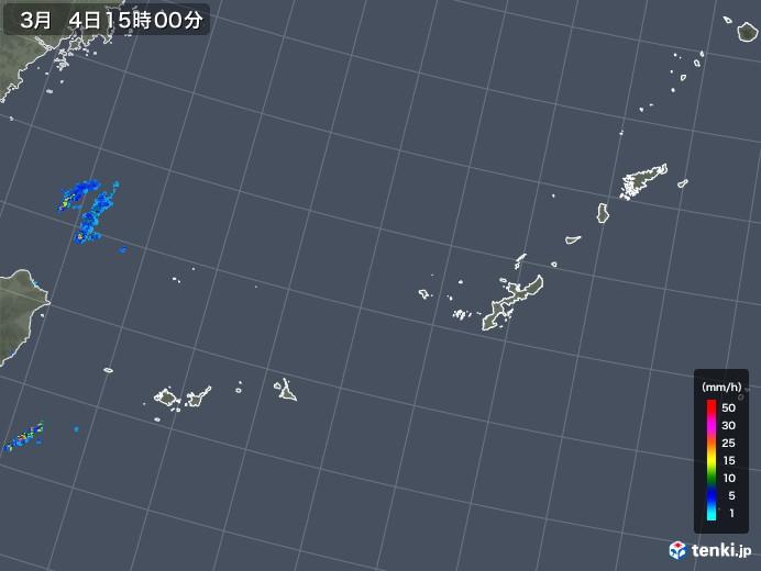沖縄地方の雨雲レーダー(2018年03月04日)