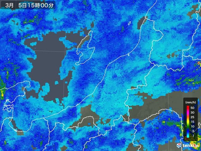 新潟県の雨雲レーダー(2018年03月05日)