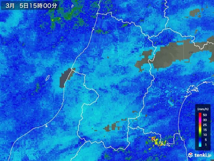山形県の雨雲レーダー(2018年03月05日)