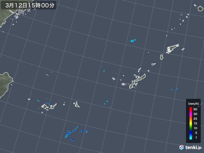 沖縄地方の雨雲レーダー(2018年03月12日)
