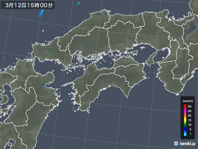 四国地方の雨雲レーダー(2018年03月12日)