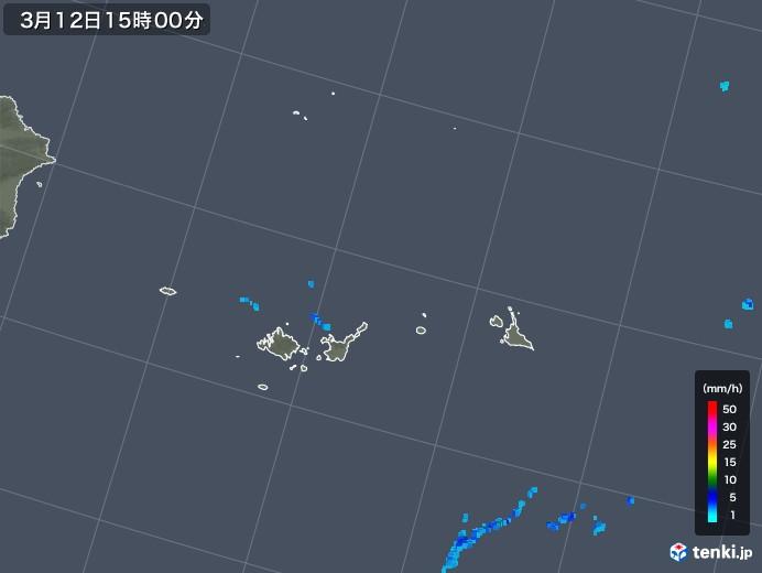 宮古・石垣・与那国(沖縄県)の雨雲レーダー(2018年03月12日)