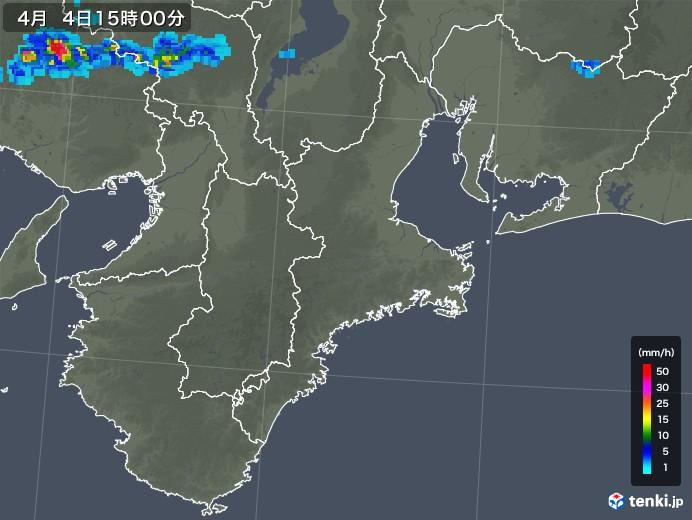 三重県の雨雲レーダー(2018年04月04日)