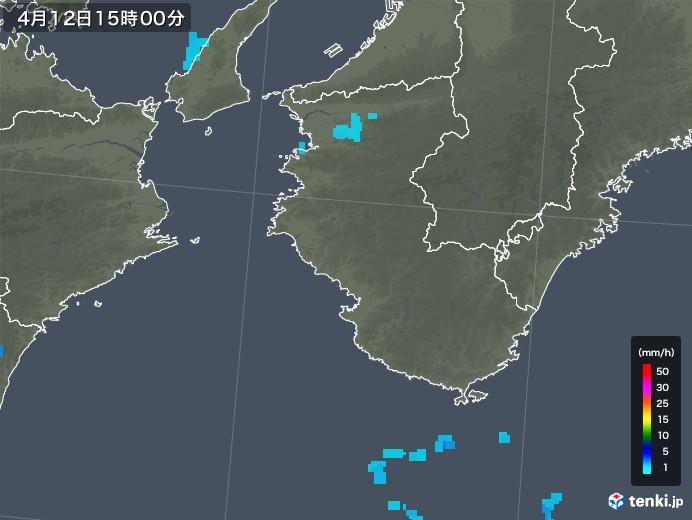 和歌山県の雨雲レーダー(2018年04月12日)