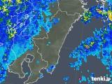 2018年04月14日の宮崎県の雨雲の動き