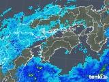 2018年04月17日の四国地方の雨雲の動き