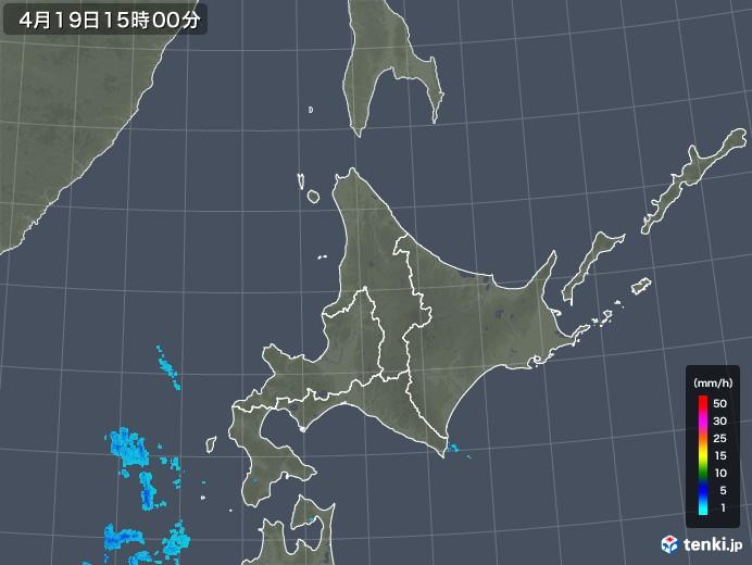 北海道地方の雨雲レーダー(2018年04月19日)