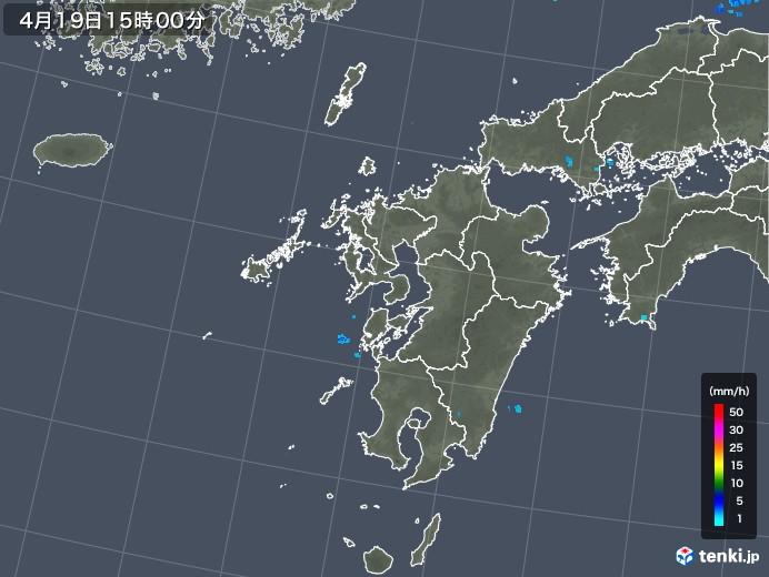 九州地方の雨雲レーダー(2018年04月19日)