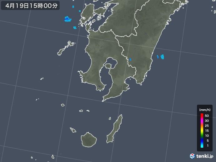 鹿児島県の雨雲レーダー(2018年04月19日)