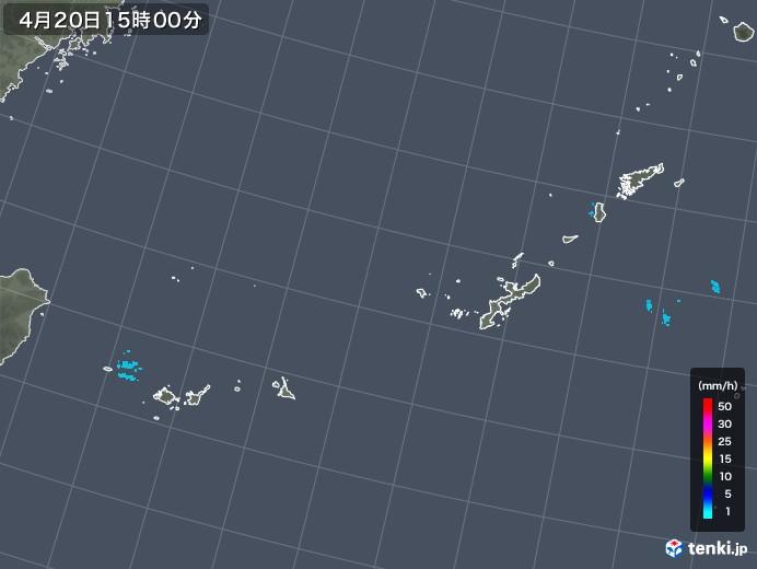 沖縄地方の雨雲レーダー(2018年04月20日)
