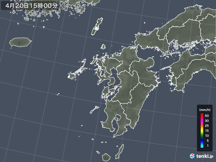 九州地方の雨雲レーダー(2018年04月20日)