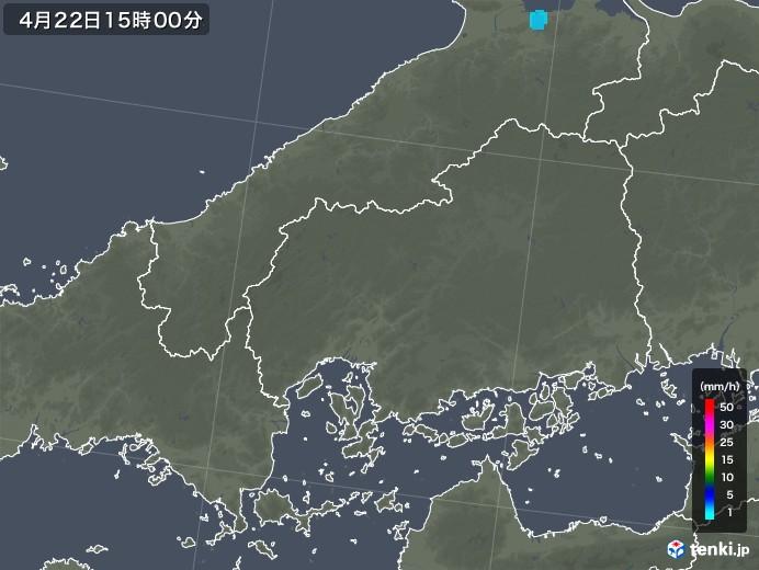 広島県の雨雲レーダー(2018年04月22日)