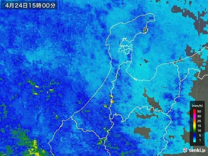石川県の雨雲レーダー(2018年04月24日)