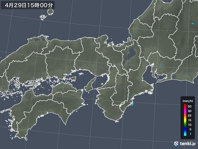 近畿地方の雨雲レーダー(2018年04月29日)