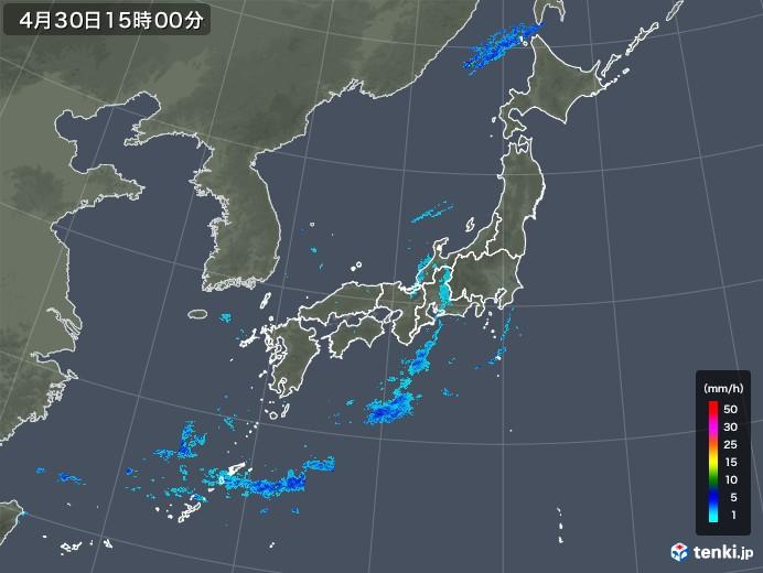 雨雲レーダー(2018年04月30日)
