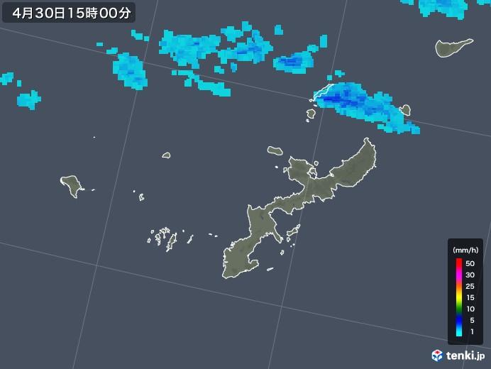 沖縄県の雨雲の動き(2018年04月30日)