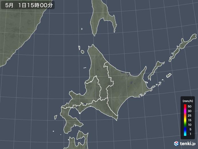 北海道地方の雨雲レーダー(2018年05月01日)