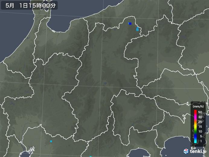 長野県の雨雲レーダー(2018年05月01日)