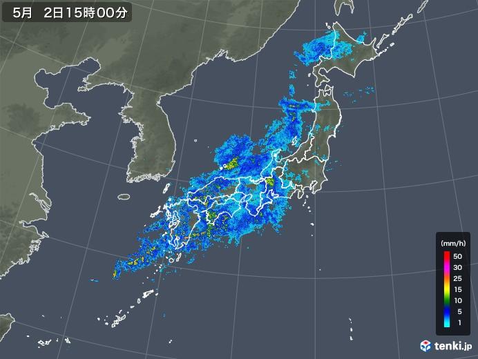 雨雲レーダー(2018年05月02日)