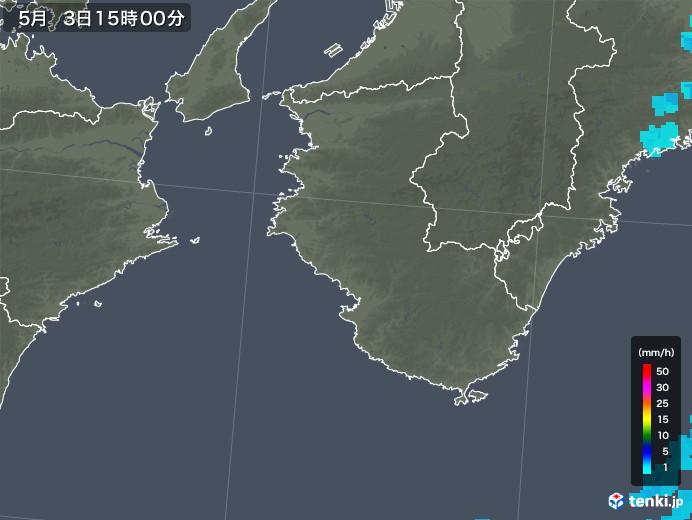和歌山県の雨雲レーダー(2018年05月03日)