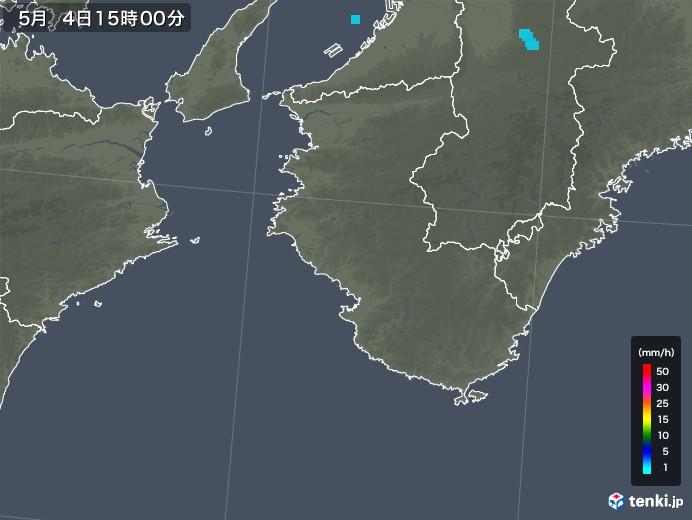 和歌山県の雨雲レーダー(2018年05月04日)