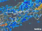2018年05月07日の四国地方の雨雲の動き