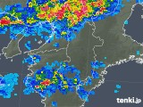2018年05月07日の奈良県の雨雲の動き