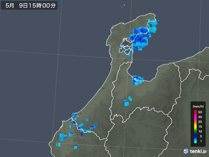 石川県の雨雲レーダー(2018年05月09日)