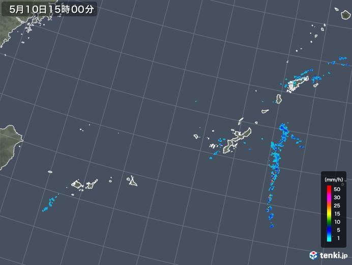 沖縄地方の雨雲レーダー(2018年05月10日)