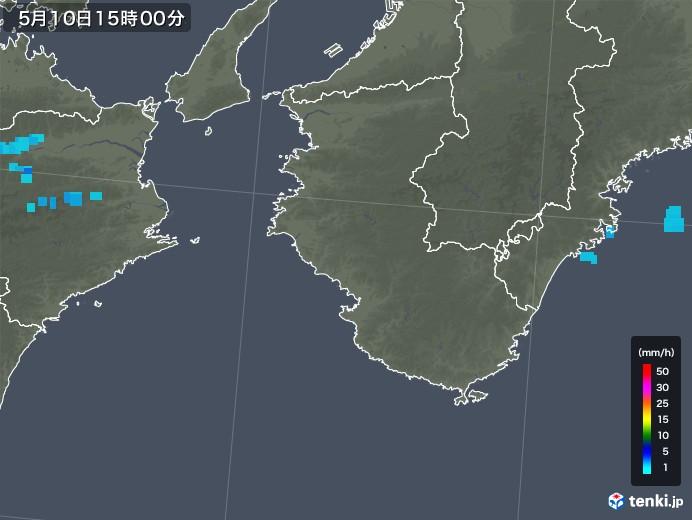 和歌山県の雨雲レーダー(2018年05月10日)