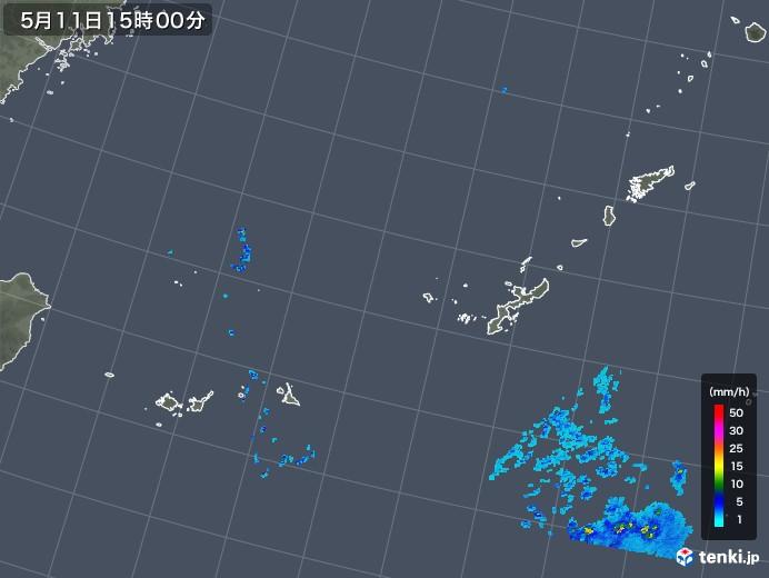 沖縄地方の雨雲の動き(2018年05月11日)