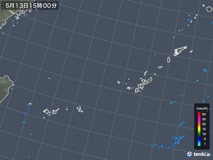 沖縄地方の雨雲レーダー(2018年05月13日)