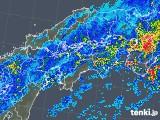 2018年05月13日の四国地方の雨雲の動き