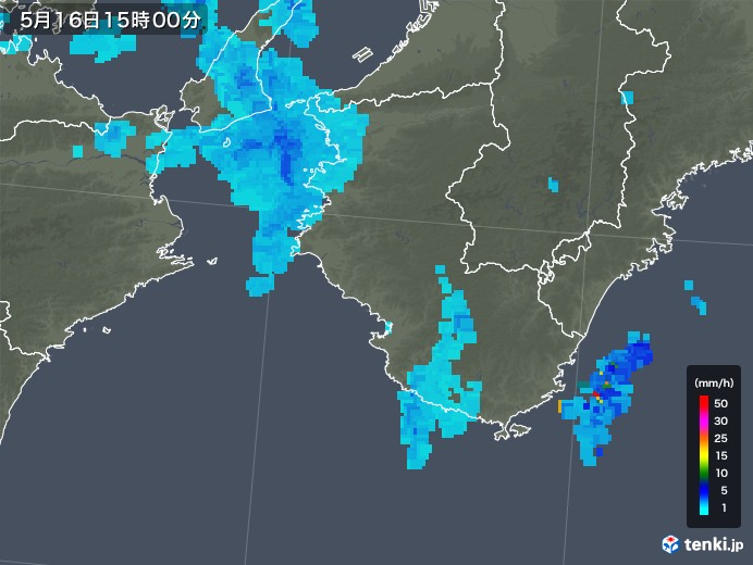 雨雲 レーダー 和歌山