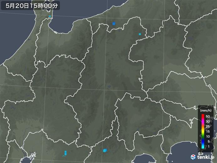 長野県の雨雲レーダー(2018年05月20日)