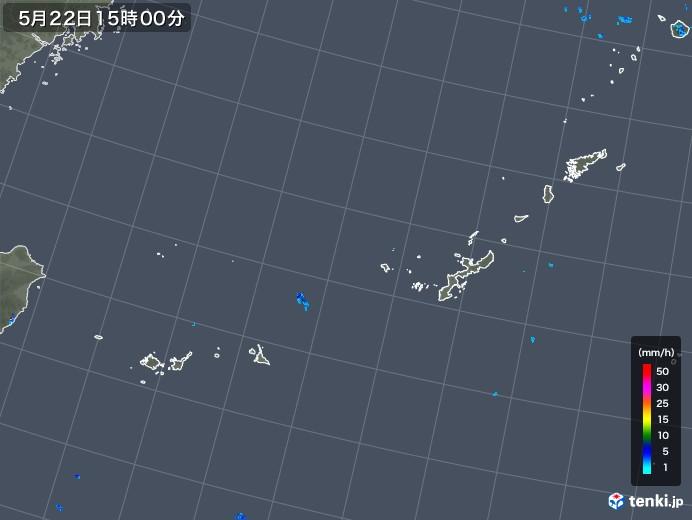 沖縄地方の雨雲の動き(2018年05月22日)