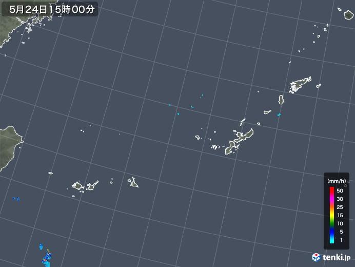 沖縄地方の雨雲レーダー(2018年05月24日)