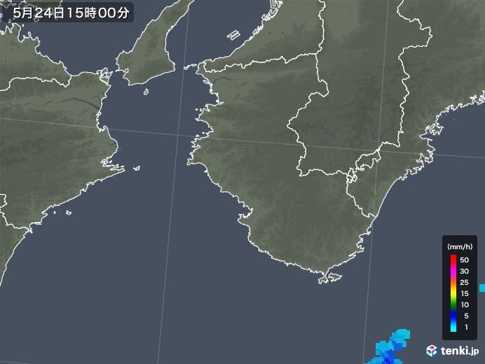 和歌山県の雨雲レーダー(2018年05月24日)