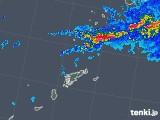 2018年05月26日の鹿児島県(奄美諸島)の雨雲の動き