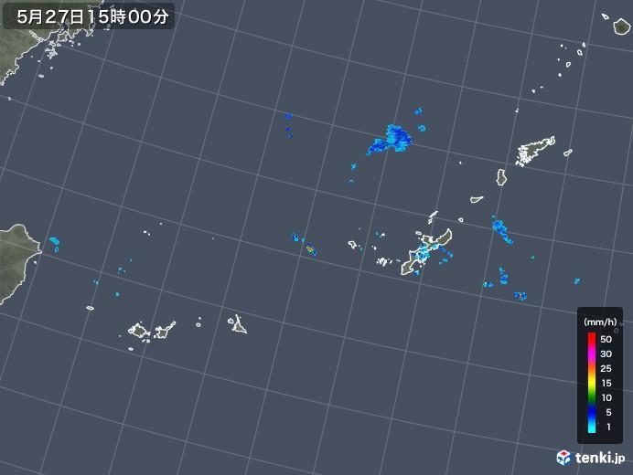 沖縄地方の雨雲レーダー(2018年05月27日)